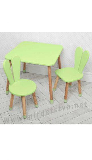 Зеленый детский столик со стульями Bambi 04-025G+1