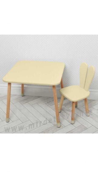 Бежевый детский столик со стулом Bambi 04-025BEIGE