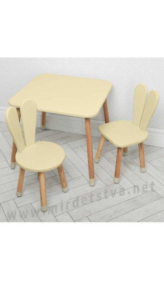 Бежевый детский столик со стульями Bambi 04-025BEIGE+1