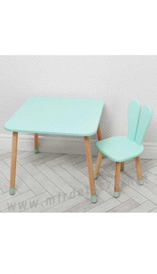Бирюзовый детский столик со стулом Bambi 04-025B