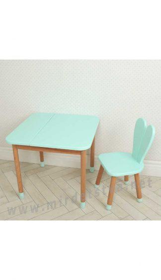 Бирюзовый комплект детской мебели Bambi 04-025B-BOX