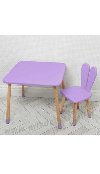 Фиолетовый детский столик со стулом Bambi 04-025VIOLET
