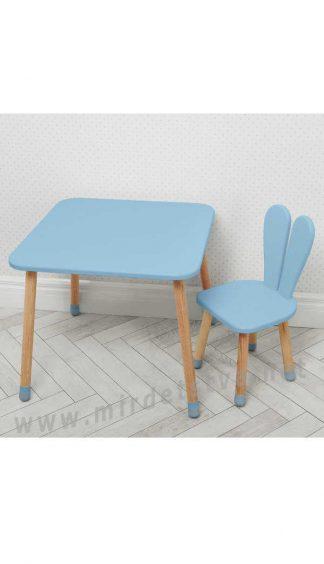 Голубой детский столик со стулом Bambi 04-025BLAKYTN