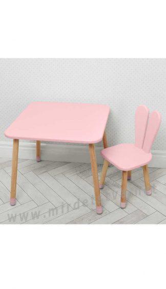 Розовый столик и стульчик для девочки Bambi 04-025R