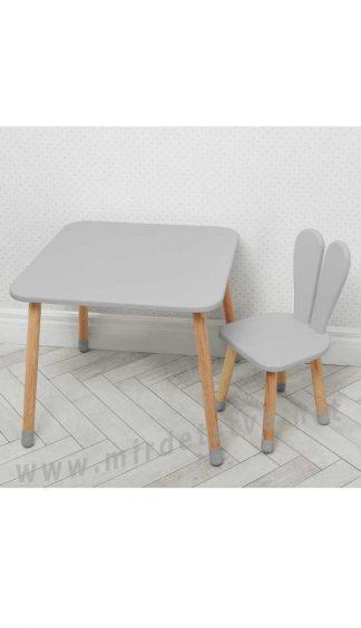 Серый детский столик со стулом Bambi 04-025GREY