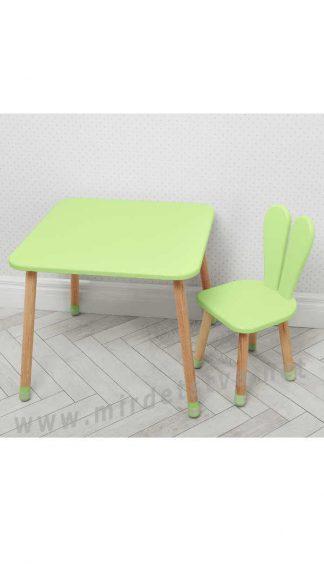 Зеленый детский столик со стулом Bambi 04-025G