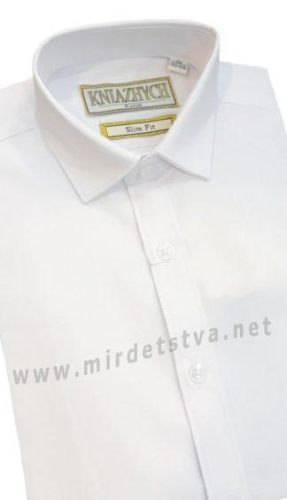 Белая рубашка с коротким рукавом Kniazhych PT2000