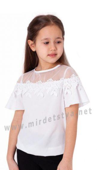 Блуза с коротким рукавом для девочки Mevis 3630-01