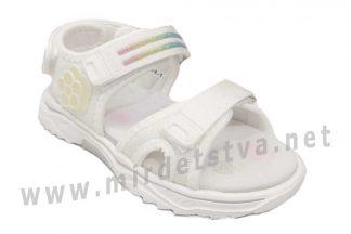 Комфортные белые босоножки в спортивном стиле девочке EeBb 554-1