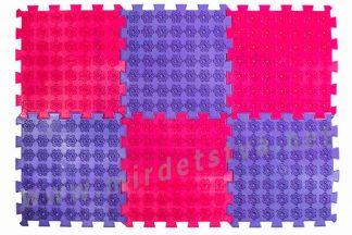 Коврик акупунктурный для спины и стоп Лотос 6 элементов