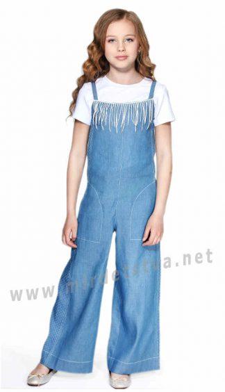 Легкий джинсовый комбинезон для девочки Lukas 9133