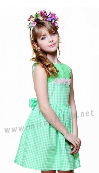Легкое платье 100% хлопок для девочки  Lukas 4105