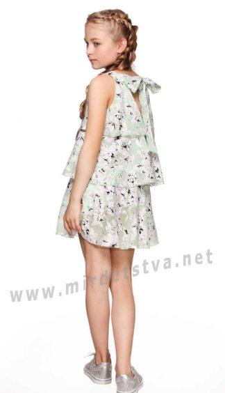 Легкое воздушное детское платье с воланами Lukas 6117