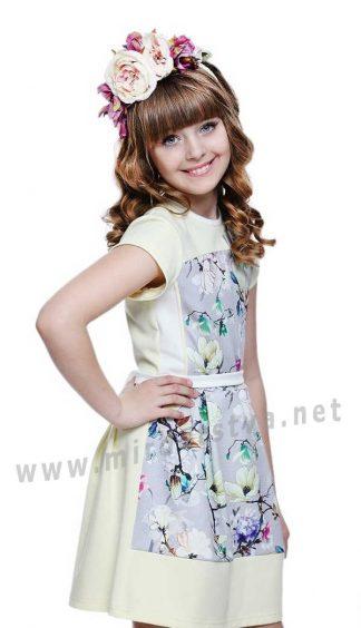 Летнее платье с цветочным принтом для девочки Lukas 5124