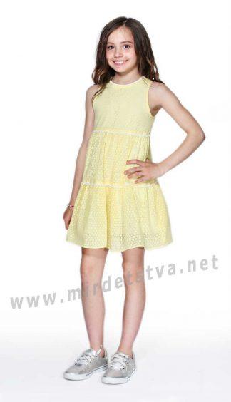Летнее желтое детское платье Lukas 7134