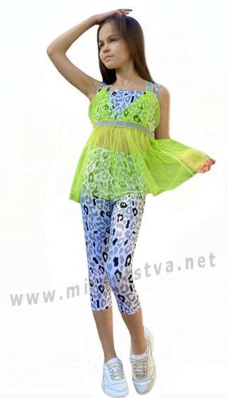 Летний костюм с лосинами для девочки Lukas 0169+0162