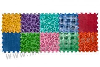 Массажный коврик Пазлы Микс 10 элементов