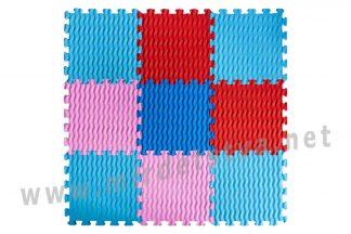 Мягкий массажный коврик Пазлы EVA Волны 9 элементов