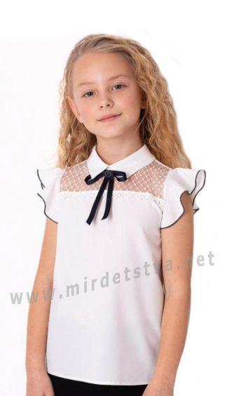 Нарядная белая блузка для девочки Mevis 3683-01