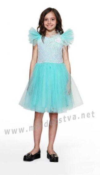 Нарядное пышное детское платье Lukas 9157 мята