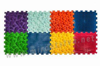Ортопедический массажный коврик Пазлы Микс 8 элементов