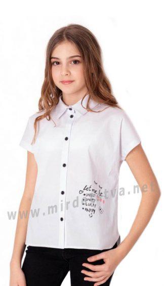 Рубашка с коротким рукавом для девочки Mevis 3833-01