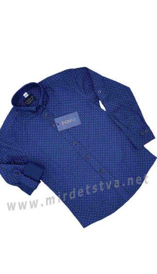 Синяя рубашка для мальчика INGVAR 30106 slim fit