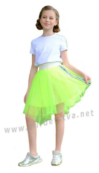 Яркий комплект с пышной юбкой на девочку Lukas 0138+9510