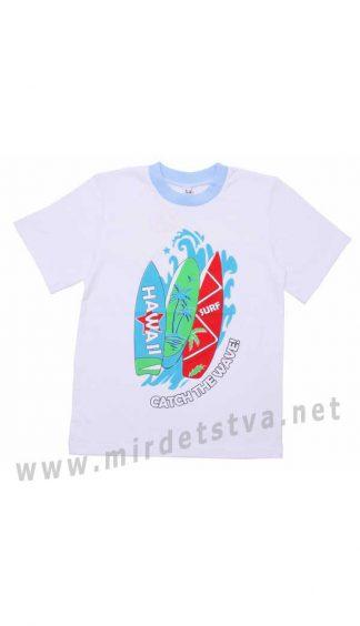 Белая детская футболка Valeri tex 1816-55-030-002