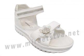 Белые босоножки с жестким задником для девочки Apawwa T14