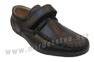 Черные кожаные мокасины на мальчика Kangfu C1726-2
