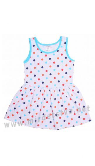 Детское летнее платье в горох Valeri tex 2003-99-127-027-02