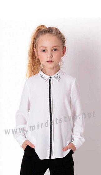 Хлопковая блуза с отложным воротничком для девочки Mevis 3857-01