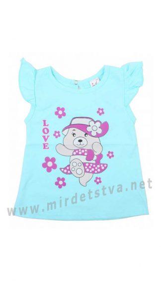 Красивая футболка девочке Valeri tex 1215-55-126-020