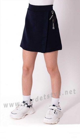 Синие детские юбка-шорты в школу Mevis 3693-01