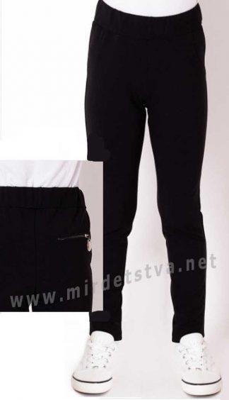 Черные школьные лосины Mevis 3775-02