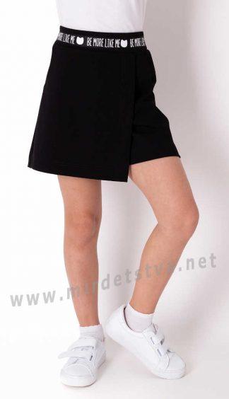 Черные юбка — шорты в школу Mevis 3779-02