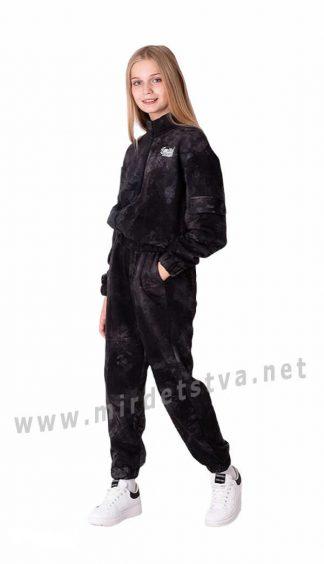Черный подростковый костюм тай — дай для девочки Mevis 3626-03