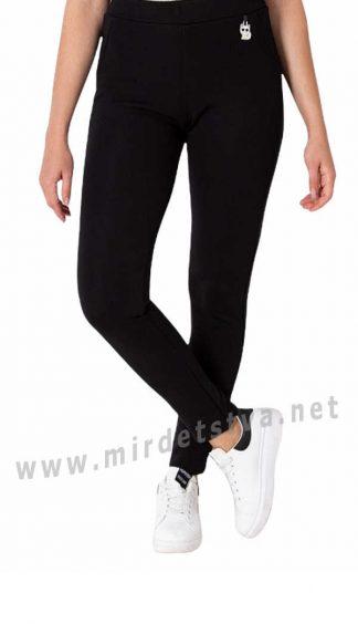 Черные подростковые утепленные лосины Mevis 4101-02