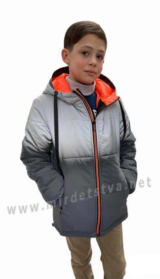 Рефлективная демисезонная куртка для мальчика Nestta Timur оранжевый