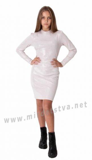 Современное подростковое трикотажное платье Mevis 4063-02