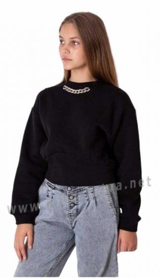 Теплый подростковый свитшот на девочку — подростка Mevis 4023-04