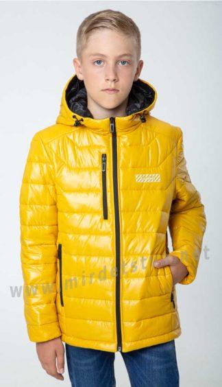 Яркая осенняя подростковая куртка для мальчика на Thinsulate Nestta Alex горчица