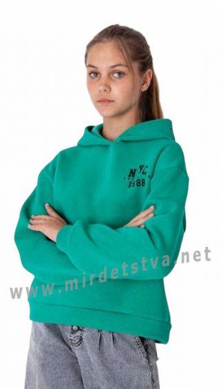 Яркая теплая подростковая толстовка на девочку Mevis 3938-02