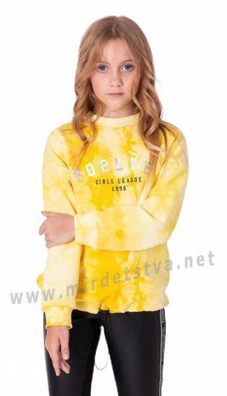 Яркий теплый свитшот на девочку Mevis 3593-01