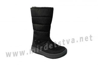 Черные зимние подростковые сапоги на мембране на девочку B&G Termo R21-15/04
