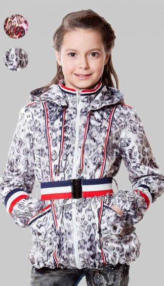 Ветровка для девочки AlisaLine Колокольчик барс снежный фото