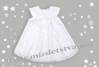 Белое платье с кружевом Бемби ПЛ199