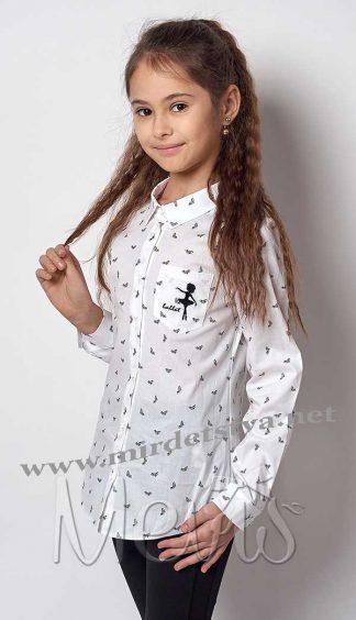 Блуза детская Mevis 2298-01 белая