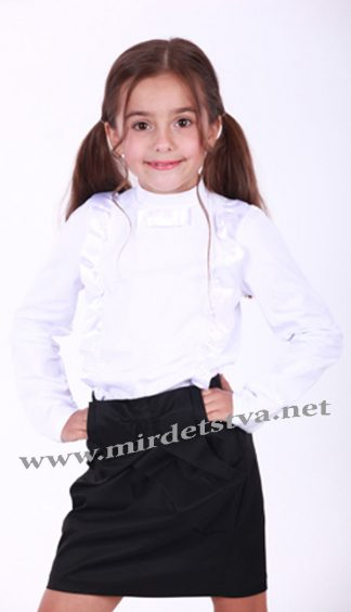 Блуза школьная для девочки Minikin 17110102 белая